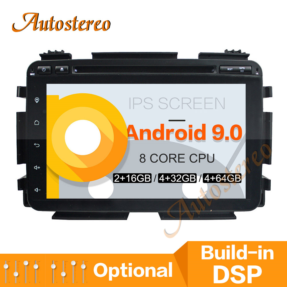 Car DVD Player DSP Android 9.0 PX5/PX6 <font><b>GPS</b></font> Navigation <font><b>For</b></font> <font><b>Honda</b></font> <font><b>HRV</b></font>/Vezel 2015+ Auto Radio Stereo Head Unit Multimedia Player image