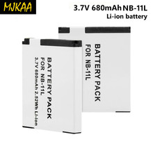 2PCS 680mAh NB-11L NB-11LH Battery for Canon Power