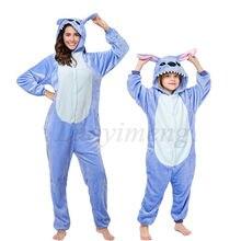 Пижама унисекс для взрослых синяя/розовая пижама косплея