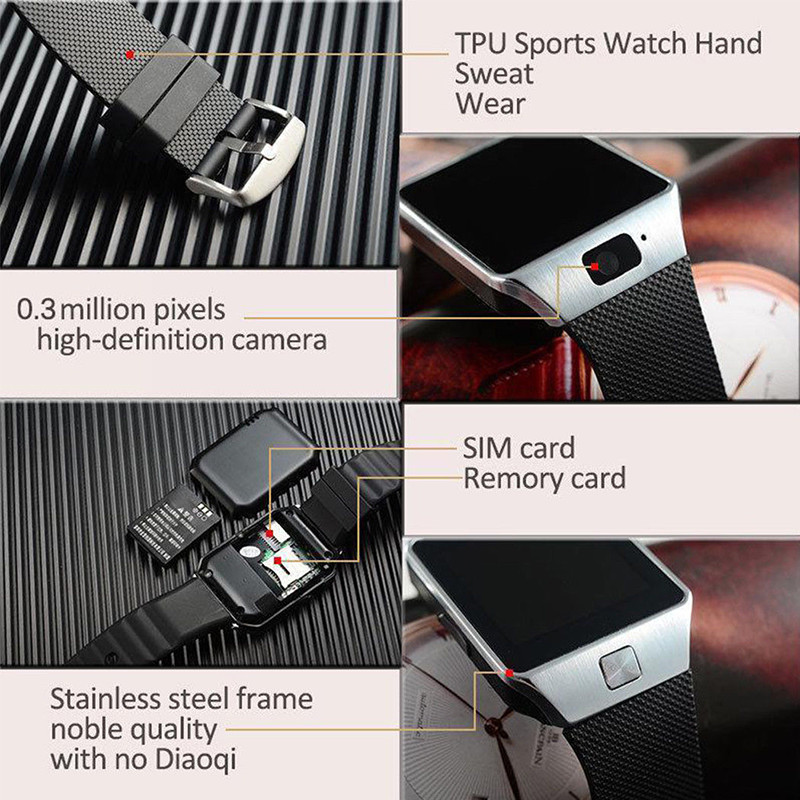 New Smartwatch Intelligent Digital Sport Gold Smart Watch Pedometer For Phone Android Wrist Watch Men Women 39 s Watch Reloj Hombre in Digital Watches from Watches