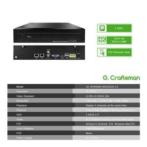 Image 2 - 16CH 4K 32CH 5MP H.265 NVR 485 Báo Động Ngoài Mạng Đầu Ghi Hình 2 HDD ONVIF P2P Cho Camera IP hệ Thống An Ninh G. ccraftsman