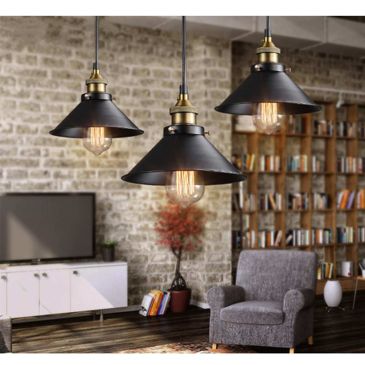 22cm Vintage Country Ceiling Lights Led Ceiling Lamp Loft Iron Home Bar Cafe Lamp Lighting For Living Room Decor