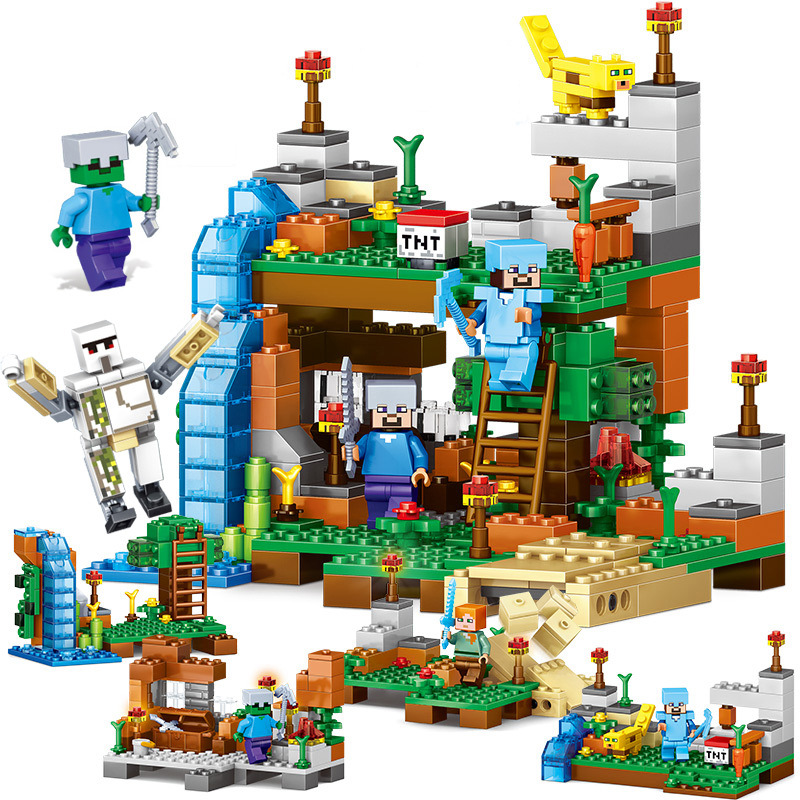 378pcs 4 In 1 Legoings Friends Minecrafteds Building Blocks Village And Garden DIY Brick Figures Educational Toys Gifts For Kids