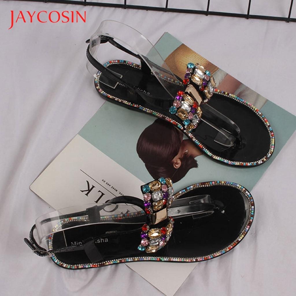 Jaycosin Women Sandals Beach Clip Toe Flip Flops Bohemian Flat Sandals Summer Shoes Woman Flat SandalsBottom Slippers Female 12 1