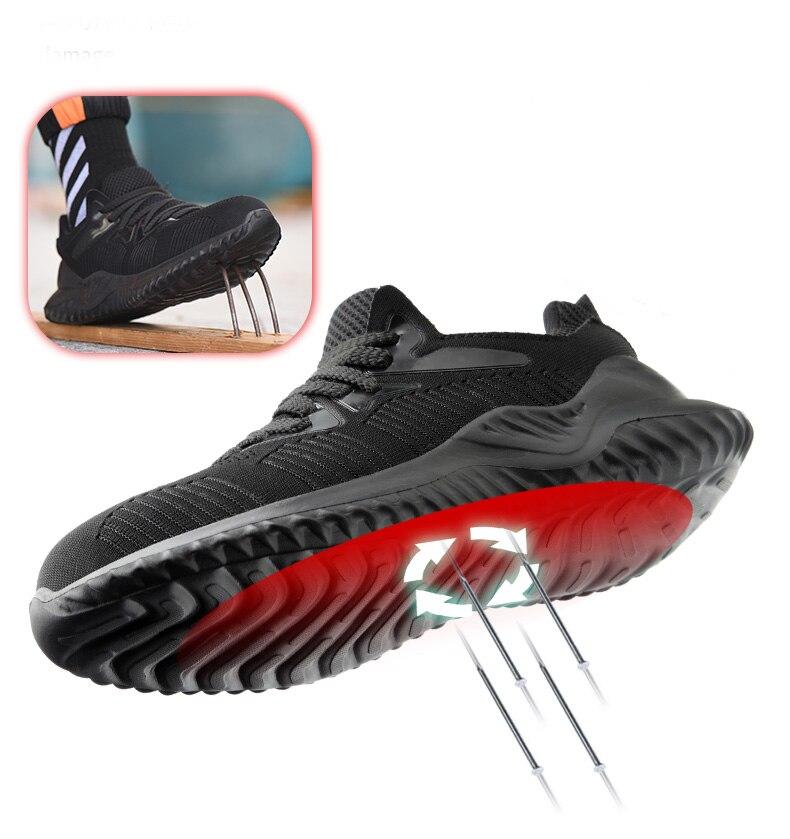 Image 3 - JACKSHIBO Men Safety Work Shoes Boots Male Autumn Steel Toe Boots Anti Smashing Protective Construction Safety Work SneakersWork & Safety Boots   -