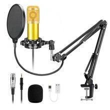 Bm800 jogos de microfone profissional condensador mikrofon com tripé suporte microfone para pc karaoke youtube gravação vídeo