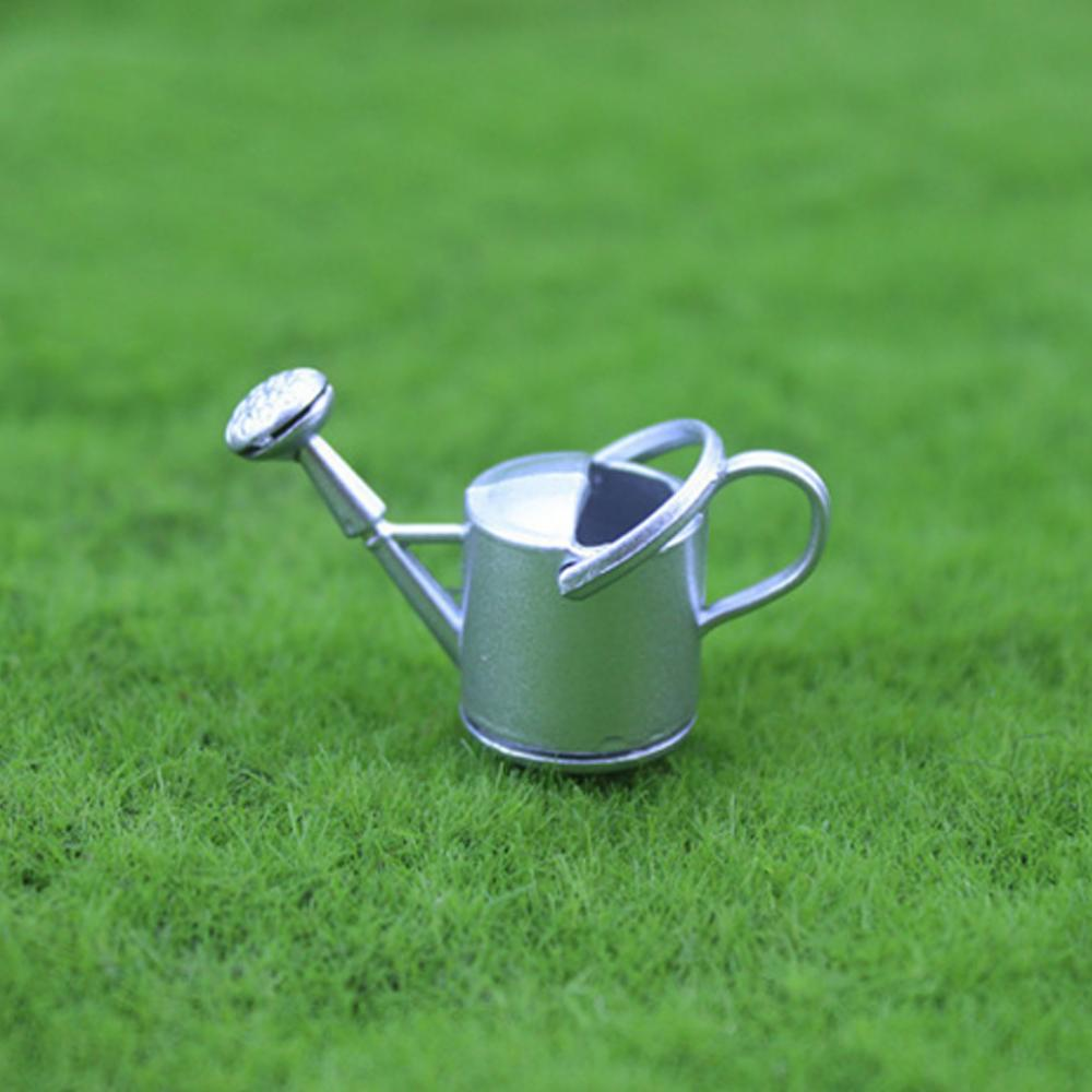 1:6//1:12 Metal Watering Can Doll House Miniature Garden Accessory Home Decor WT