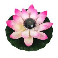 Lámpara LED decorativa con energía Solar para piscina, luz de loto colorida y elegante para decoración de paisaje, LED de loto y estanque