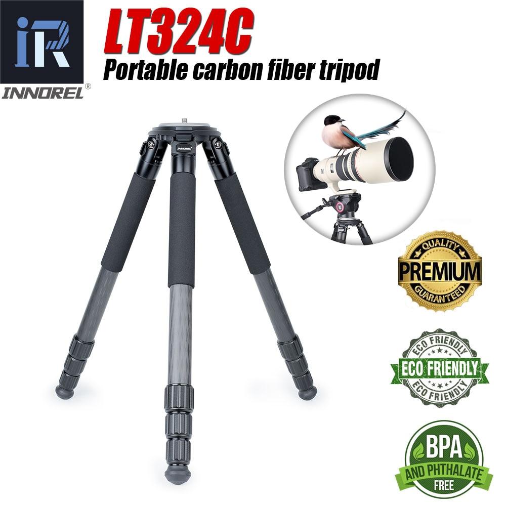 INNOREL LT324C Профессиональный карбоновый Штатив для спортивных видеокамер, Гибкий штатив для селфи 1,5 м, подставка для мобильного телефона или д