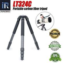 LT324C trípode profesional de 10 capas para Selfie, Trípode De Fibra De Carbono, Flexible, foto de 1,5 M de altura máxima, soporte para cámaras de vídeo deportes