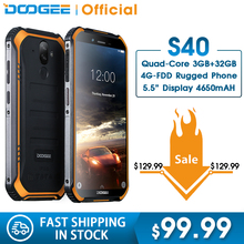 IP68/IP69K DOOGEE S40 MTK6739 Quad Core 2GB RAM 16GB ROM Android 9.0 4GNetwork Rugged Mobil