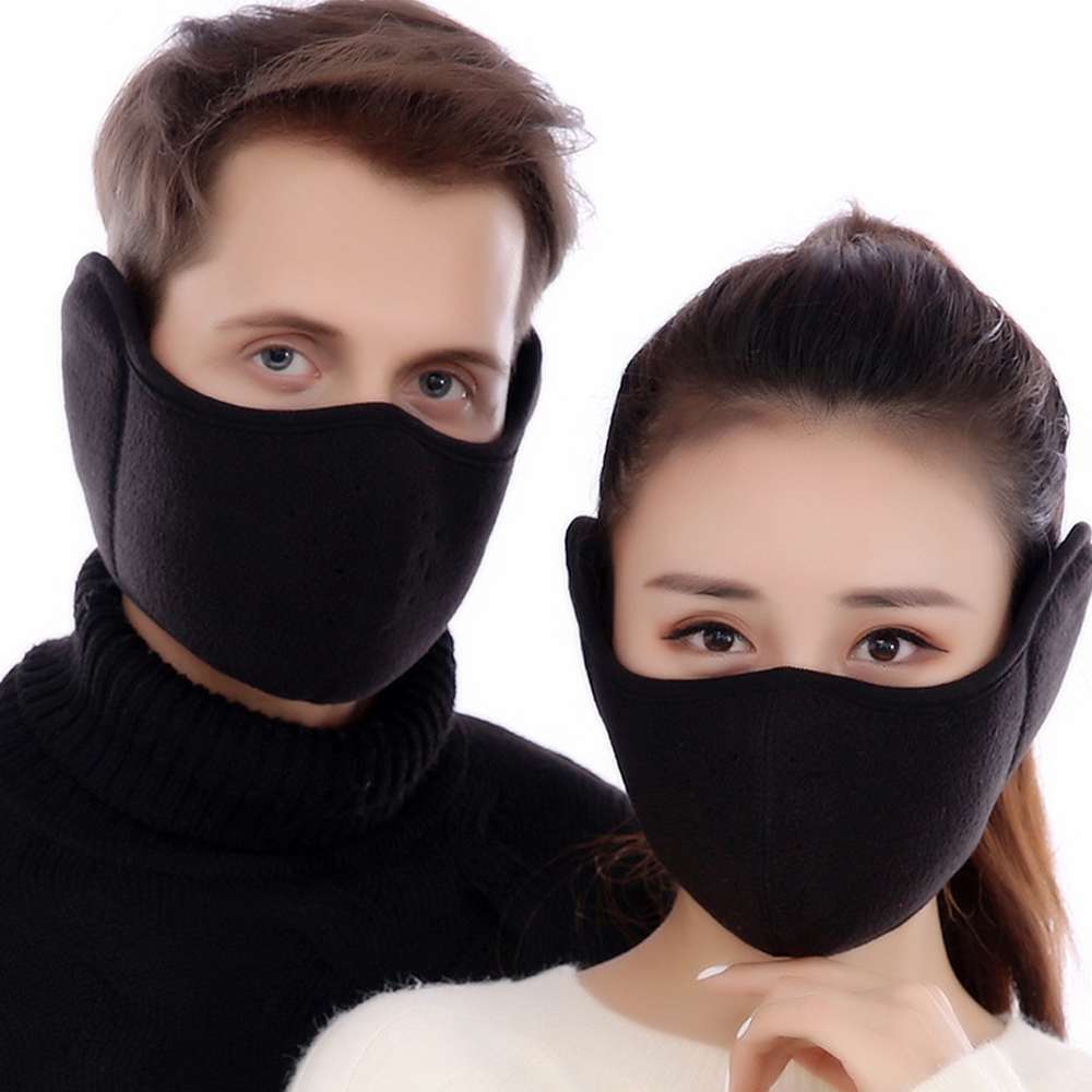 Velvet Men Women Ear Protective Mouth Mask Windproof Earmuff Anti Dust Winter Masks Breathable Anti Haze Flu Face Masks