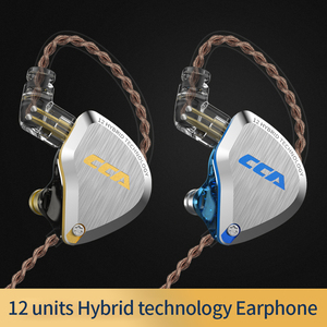 Image 3 - New CCA C12  Metal Headset 5BA+1DD Hybrid 12Units HIFI Bass Earbuds In Ear Monitor Headphones Noise Cancelling Earphones KZ E10