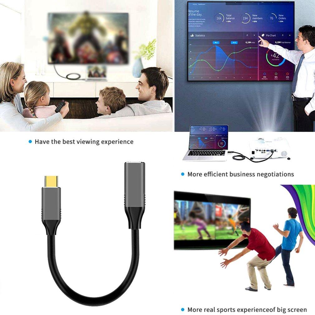 С USB-C для мини-кабеля DisplayPort 4K 60 Гц тип-с практической конвертер Тандерболт 3 МДФ для MacBook