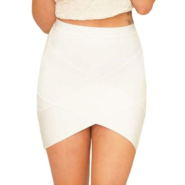 UpAvonu Bandage Rayon Good Elastic White Women Skirts Mini Sexy Slim Pencil Clubwear Suitable Black Gray Rose Green HL135-2 4