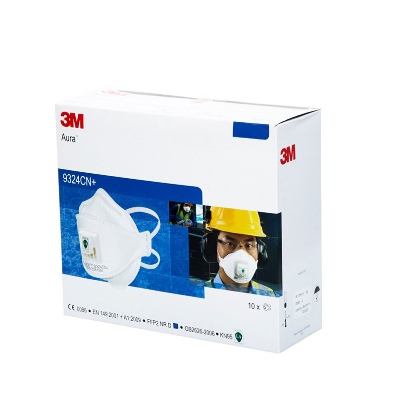 3M-9324CN-FFP2-N95-CE-Facial-Mask-Virus-proof-Self-Protection-with-Valve-Aura-Dust-Respirator