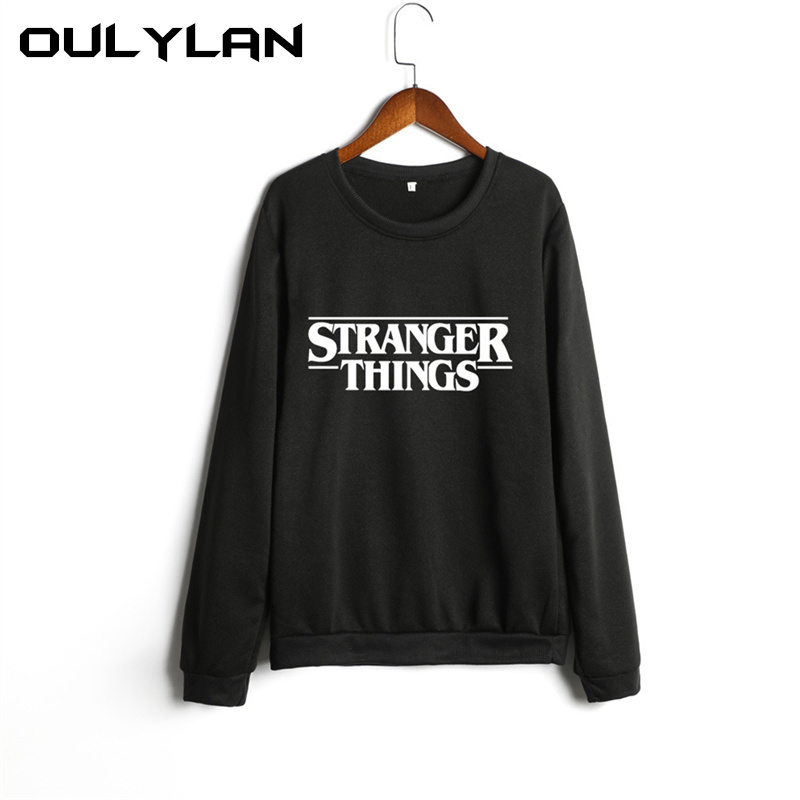 Oulylan Fashion Printed Letter STRANGER THINGS Sweatshirt Women Casual Plus Size Women Clothes Unisex Autumn Warm Pullovers 5XL