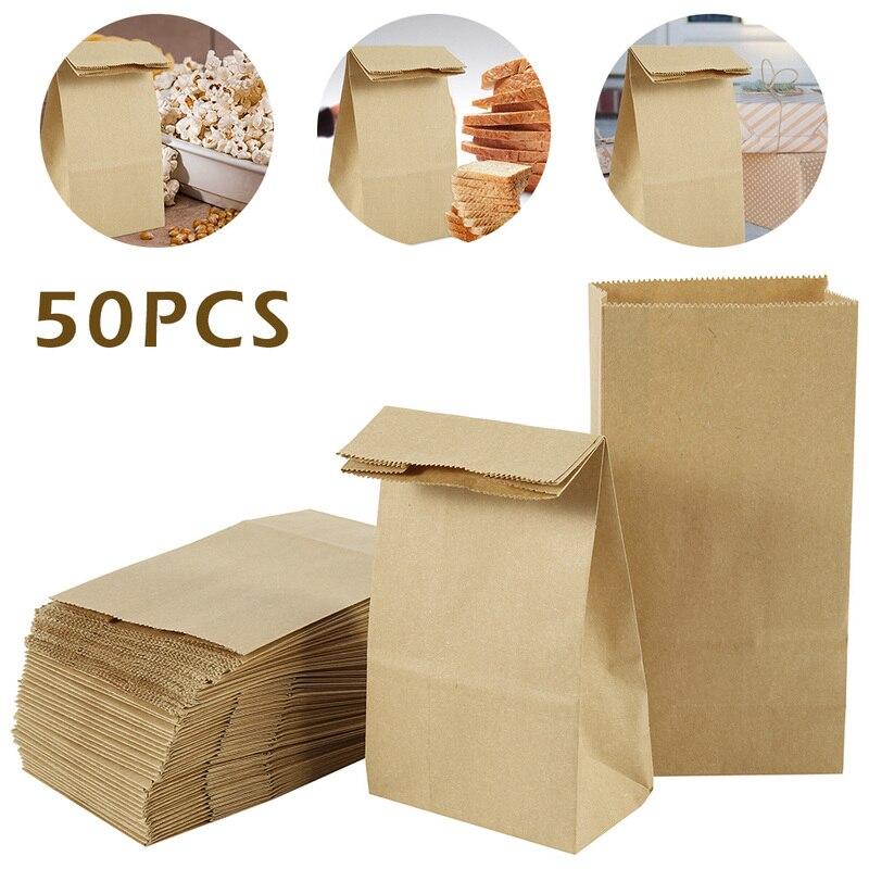 30 шт./лот пакет из крафт-бумаги пустые подарочные коробки на день рождения коричневый и белый для магазинов конфет тортов десертов свадебве...