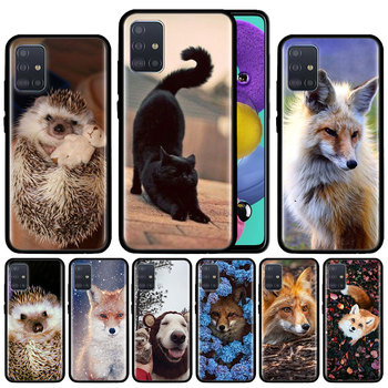 Cat Salem Witches Broom Dog Case For Samsung Galaxy A51 A71 M31 A41 A31 A11 A01 M51 M21 M11 M40 Black Soft Phone Cover Fundas image