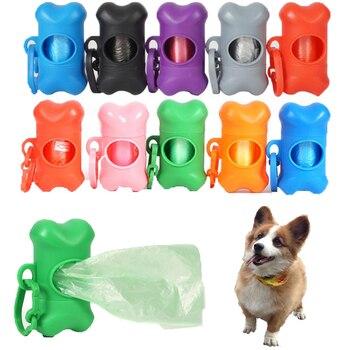 Puppy Dog Poop Scooper Bags Dispenser Garbage Bag Set Poop Collector Holder Portable Pet Dog Pooper Scooper Pets Supplies