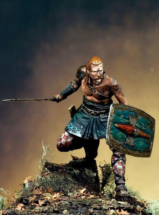 1/24 75mm Ancient Warrior With Sword And Base  Resin Figure Model Kits Miniature Gk Unassembly Unpainted