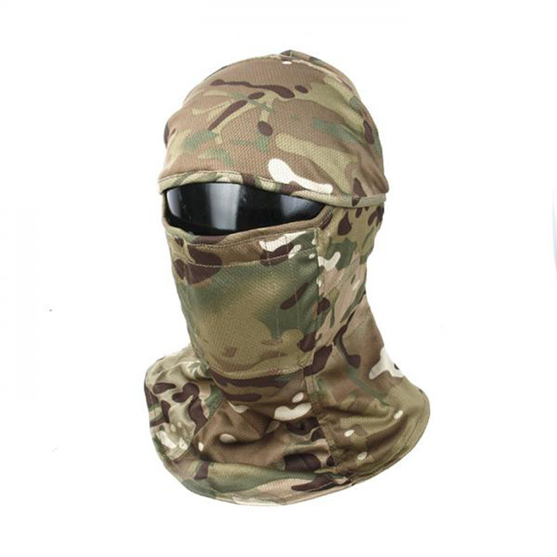 H680915333b594d498390bb45a37874a6N TMC3267 CS Tactical Camo Head Cover Metal Mesh Balaclava Full FaceMask Sunscreen Dust-proof Full-wrapped Headscarf Free Shipping