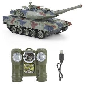 Kids 778-1/2/3/4 Simulation 1:24 RC Battle Tank Toys Crawler Light Remote Control Heavy Machine Tanks Toys For Children Gift