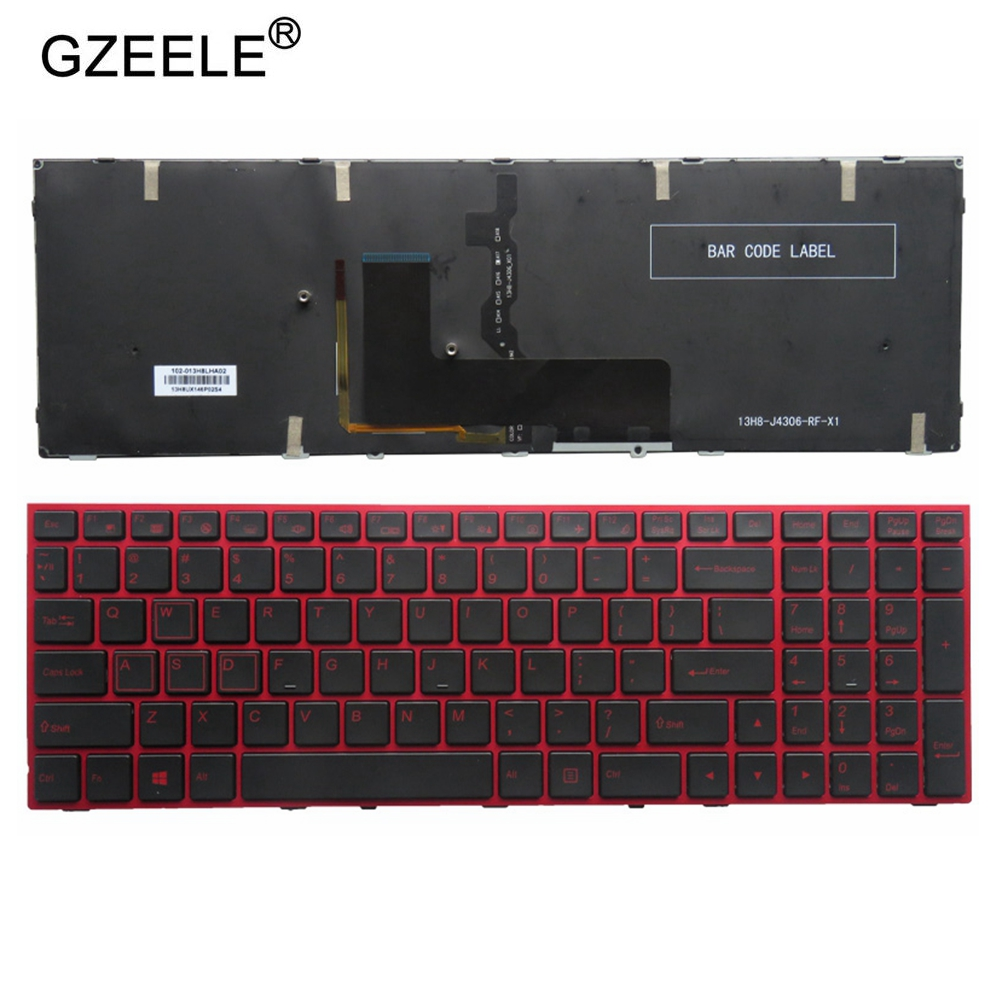 NEW US Laptop Keyboard FOR Clevo P650 P670RE3 P670RG P650RE3 P650RE6 P650RG Red Keyboard US Color Backlit English Version