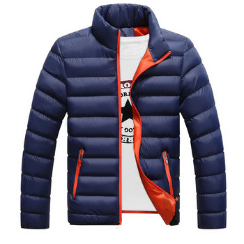 Men Boy Winter Warm Cotton Padded Down  Coat Slim Thick Outerwear Parka Jacket