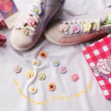 Обуви 1шт DIY цветы пряжки девочек и детские поделки обувь аксессуары тенденции творческие декоративные шнурки обувь аксессуары