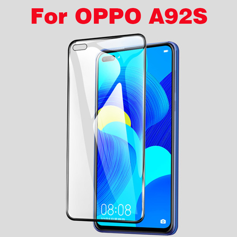 3D Full Glue Tempered Glass For OPPO A92S Full Cover 9H Protective film Screen Protector For OPPO A92S A92 S