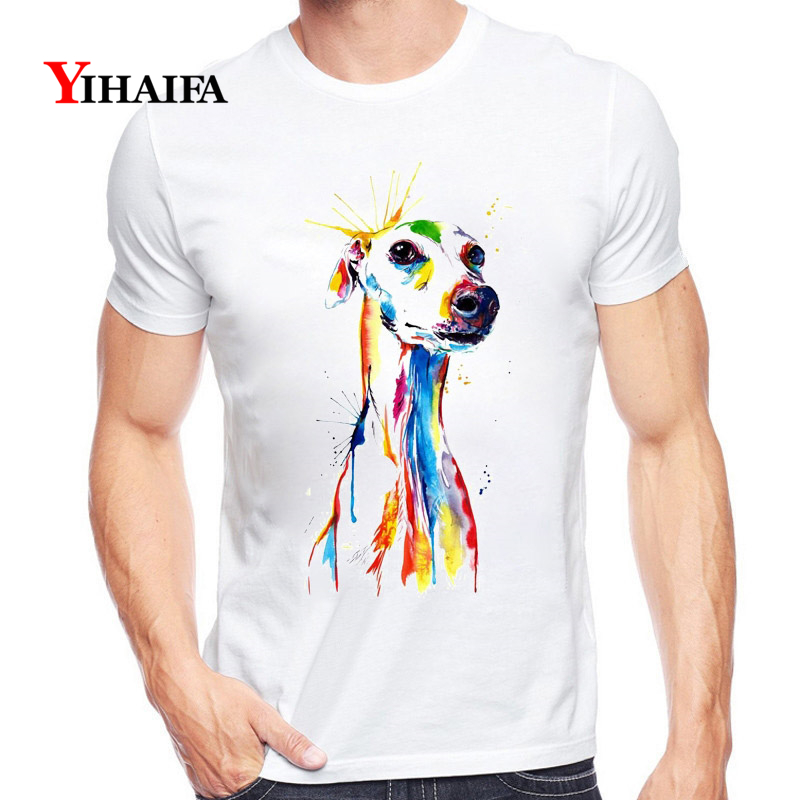 T Shirt Men Women Animal 3D Print Paintd Dog Graphic Tees Casual Summer Tee Shirts Short Sleeve Unisex White Tops in T Shirts from Men 39 s Clothing