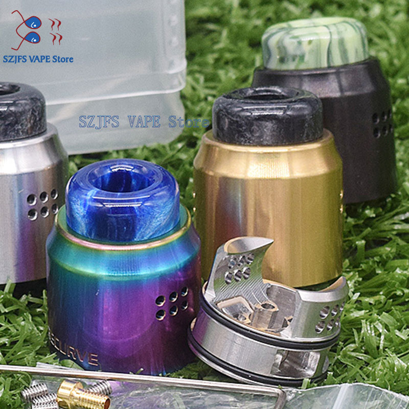 Recurve Dual RDA Tank 24mm 316ss With Dual Coil Vapor-gathering Chamber Oval Circulation Structure Anti-Condensation Vs Thc Vape