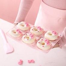Antiadhésif dessin animé beignet gâteau Silicone moule gâteau décoration outils accessoires de cuisson