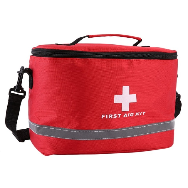 Outdoor First Aid Kit Sports Camping Bag Home Medical Emergency Survival Package Red Nylon Striking Cross Symbol Crossbody bag 4