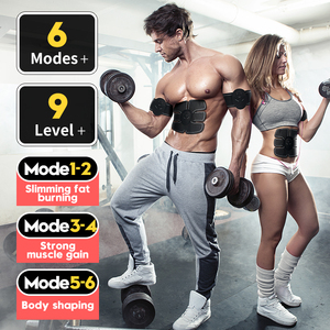 Image 2 - EMS Muscle Trainer Electronic Muscle Stimulator AB Abdominal  Muscle Toner Muscle Trainer for Arm/Back,Abdominal Muscle Trainer