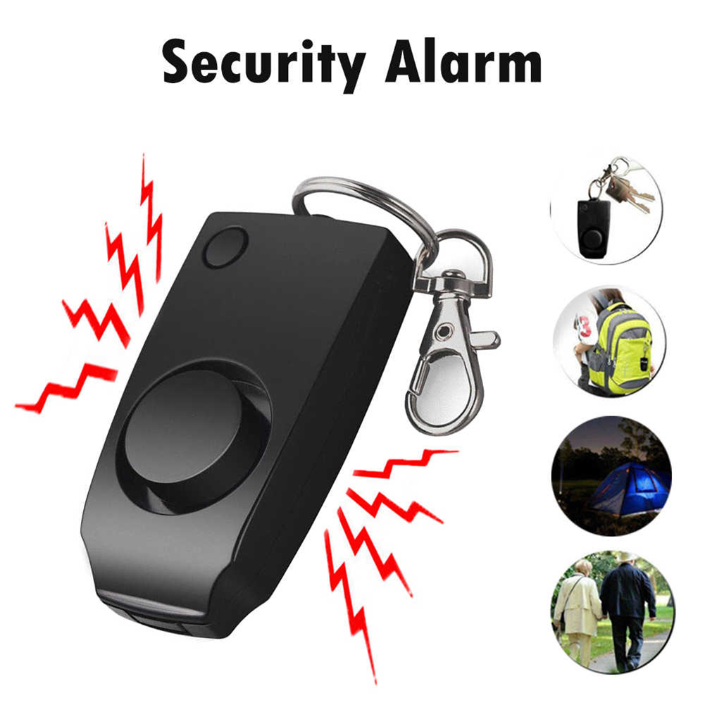 Personal Alarm 130 DB Loud Personal Security Alarm Keychain Emergency Safety Alarm For Women Kids Seniors 40FM12