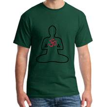 Funny Buddha With Om Sign 2b t shirt big size s~18xL Short Sleeve Short hilarious men's t shirt tee(China)