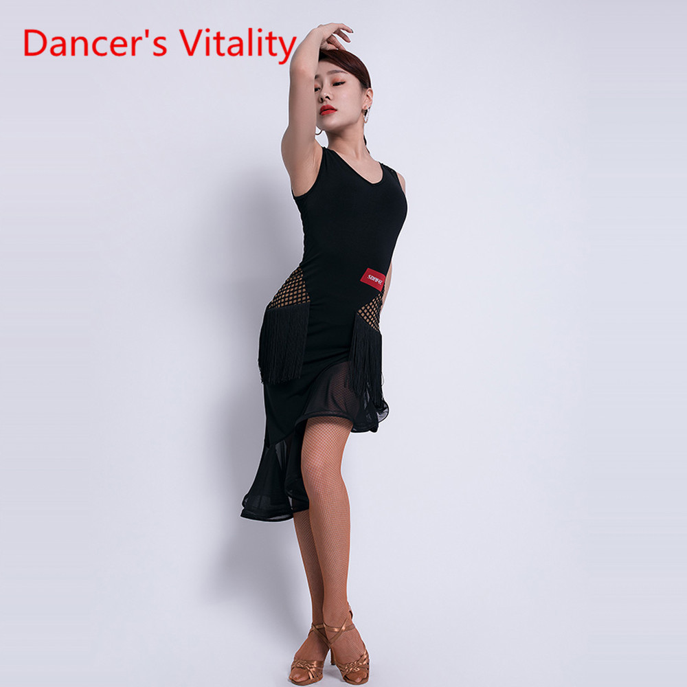 Latin Dance Fashion Practice Dress Female New Adult Sexy Dress Latin Profession Competition/Performance Costume