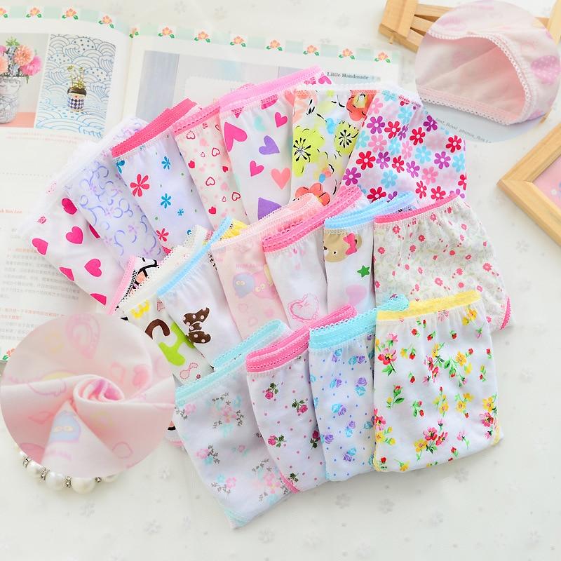 12Pc/lot Baby Girls Underwear Cotton Panties for Girls Kids Short Briefs Children Underpants 2 12Y|Panties| - AliExpress
