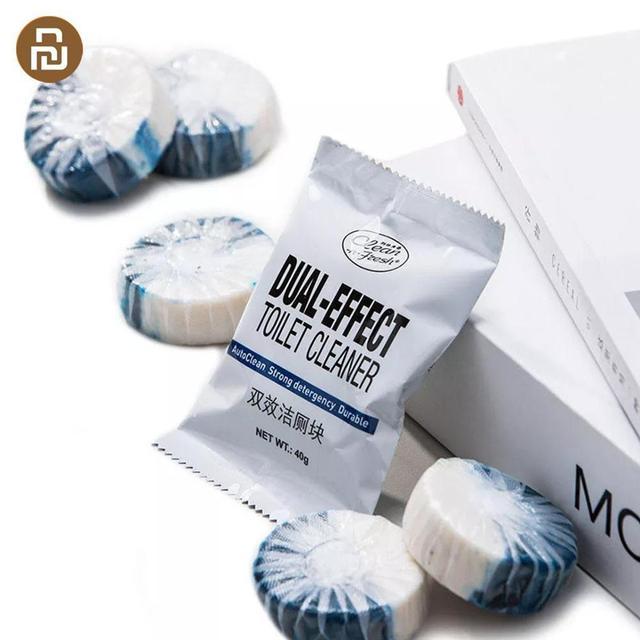 Youpin Clean n fresh блок для туалета с двойным эффектом, глубокое очищение, независимая анионная активная способность, Водорастворимая пленка, упаковка