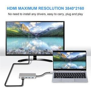 Image 4 - USB C Hub 5 IN 1 USB C HDMI VGA Dual Display Adapter con USB 3.0*3 HDMI 4K VGA 1080P @ 60HZ Thunderbolt 3 Tipo C Hub per Macbook