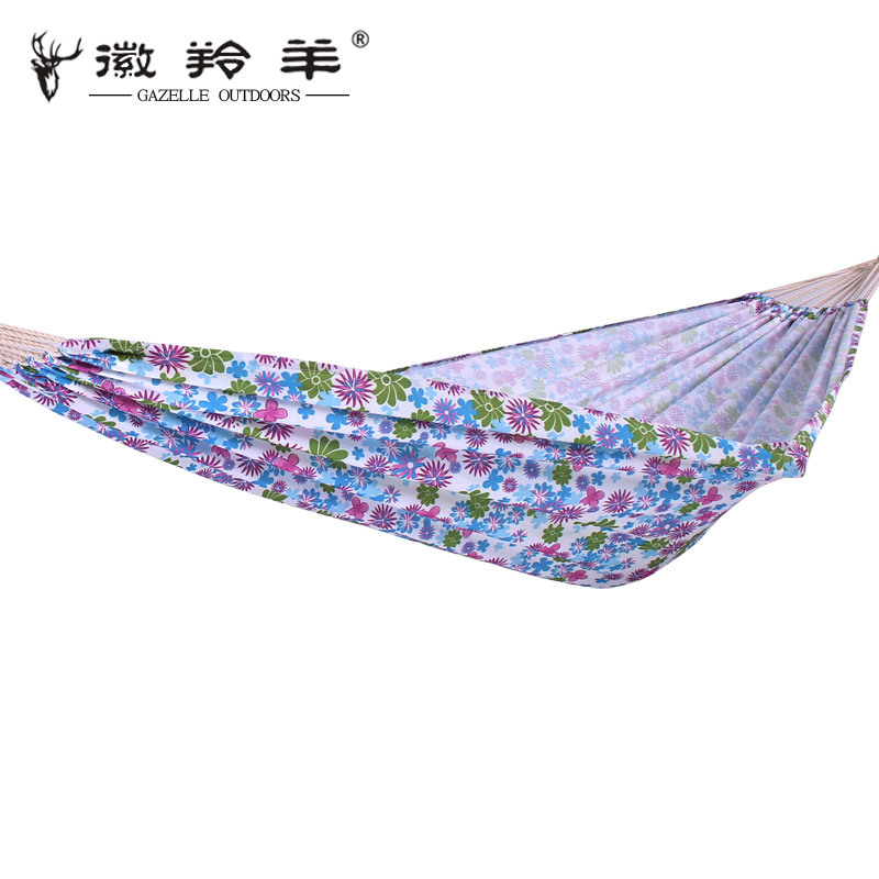 Huilingyang Outdoor Supplies Oxford Cloth Single Person Widened Hammock Color Printing Casual Swing Multi-color Currently Availa