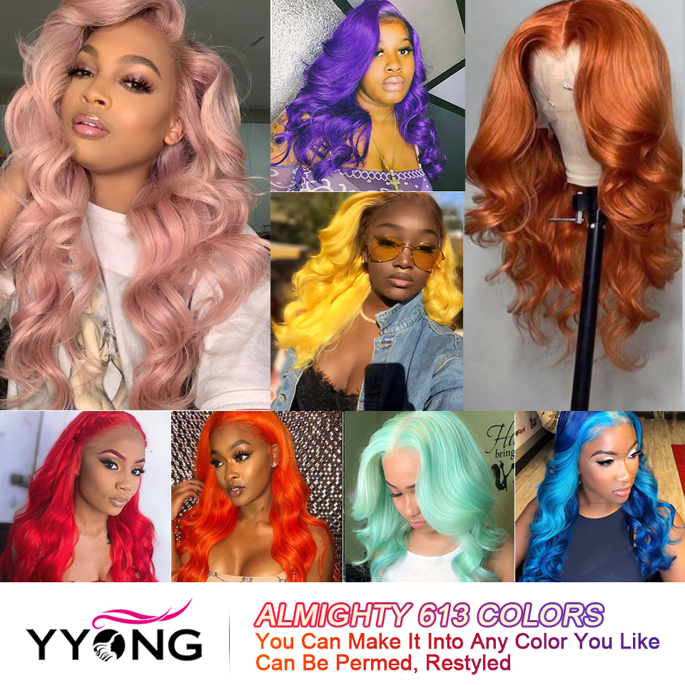 YYong613 Blond Lace Front  Wig  613 Body Wave Lace Closure Wig Pre Pluckeded Hairline  Can Be Colored 5