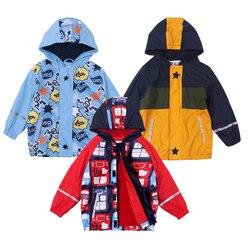 2020 outono com capuz jaquetas de bebê para meninos esporte pu couro crianças casacos inverno quente blusão à prova douterágua chuva outerwear