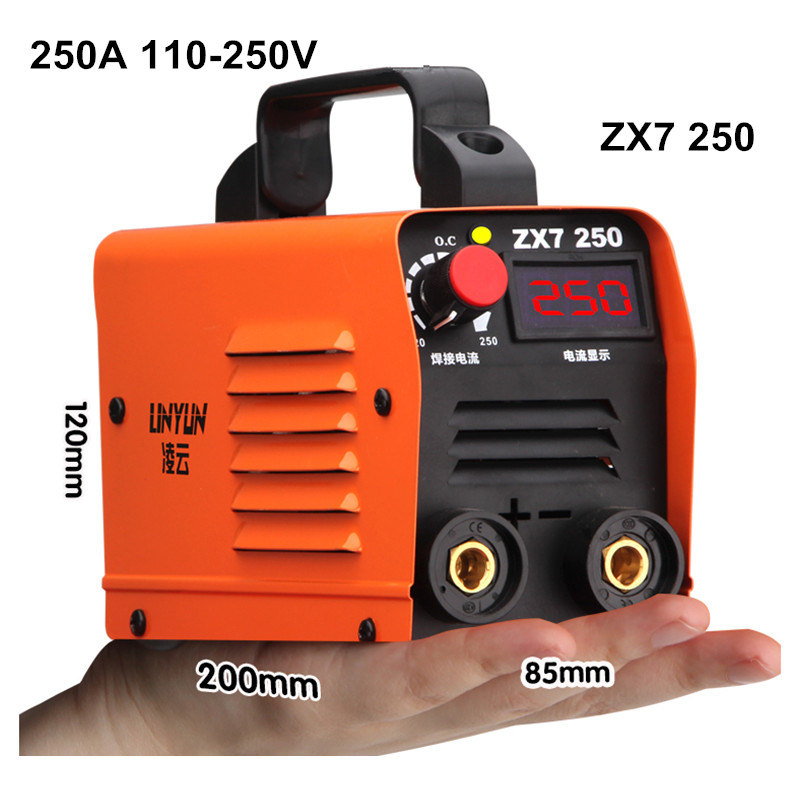 Free Shipping 250A 110-250V Welding Machine Compact Mini MMA Welder Inverter Welding Semiautomatic