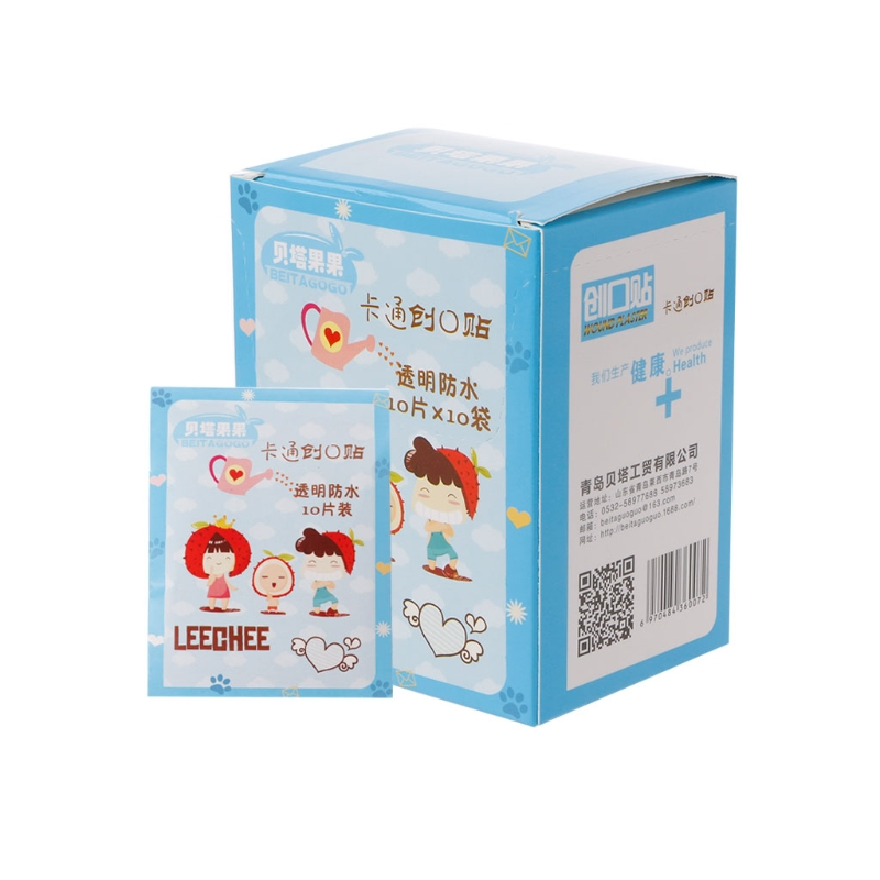 100Pcs Variety Decor Patterns Bandages Cute Cartoon Band Aid For Kids Children