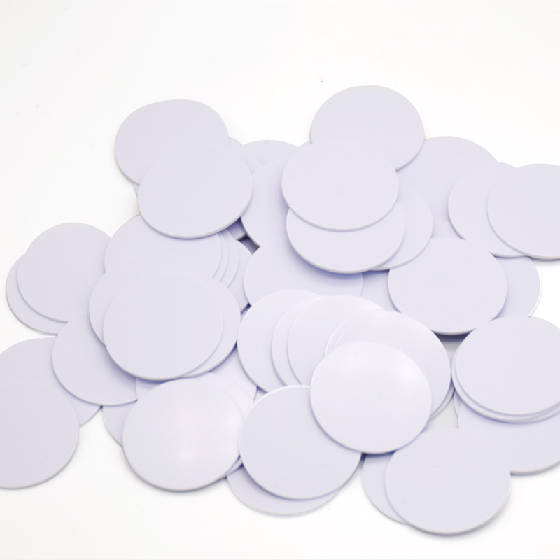 100pcs/lot NTAG213 NTAG215 NTAG216 25mm NFC Tag Round Shape Coin Cards Protocol ISO14443A For All NFC Phones