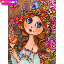 MomoArt 5D Full Drill Square Diamond Painting Girl Embroidery Cross Stitch New Arrival Wall Decoration