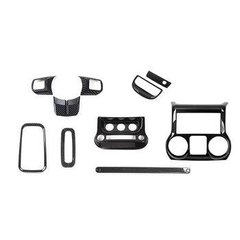 NEUE-Carbon Faser Innen Dekoration Trim Kit, trim für Jeep Wrangler JK JKU 2011-2017 4 Tür (10 PCS)